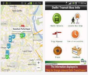 Delhi Transit Bus Info