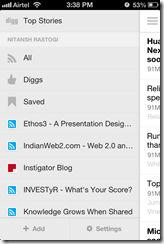 Digg Reader iPhone App
