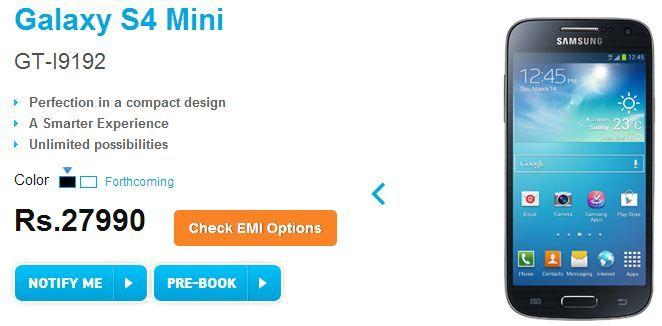 Galaxy S4 Mini pre-order