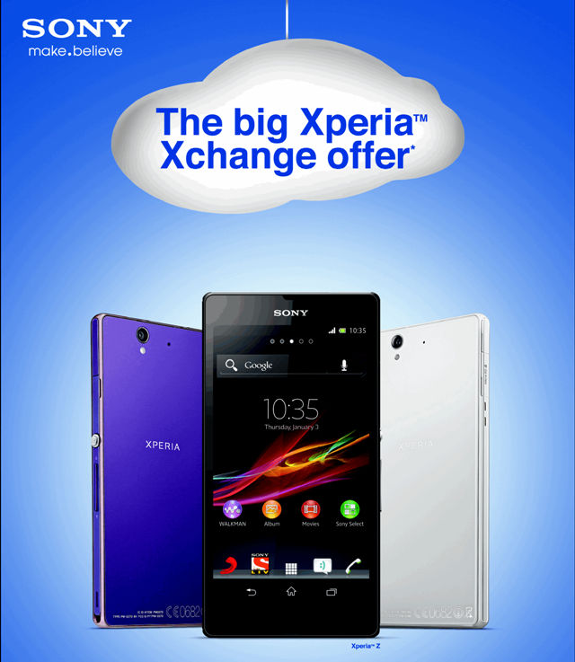 Sony Xperia XChange offer