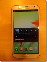 Samsung Galaxy Note II Front