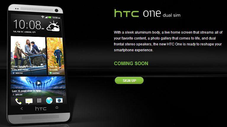 HTC One Dual SIM India