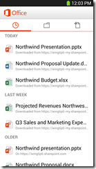 Office Mobile for Office 365 1