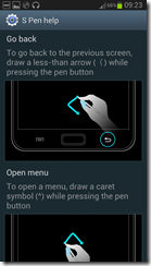 Quick Commands in Galaxy Note II via S Pen