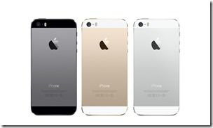 Apple iPhone 5S Colors Back