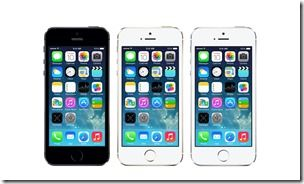 Apple iPhone 5S Colors Front