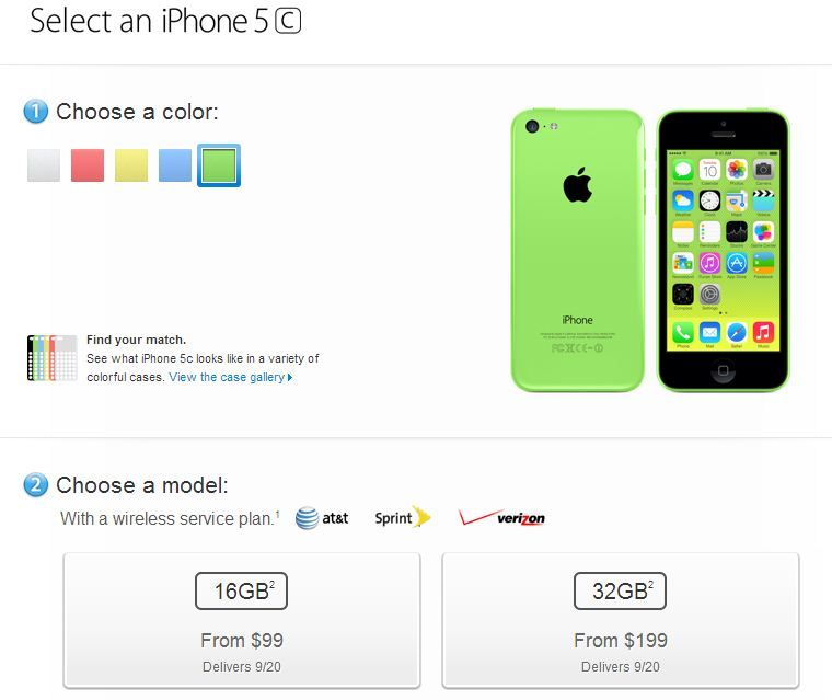 Apple iPhone 5c pre-order