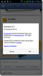 Facebook Beta 1