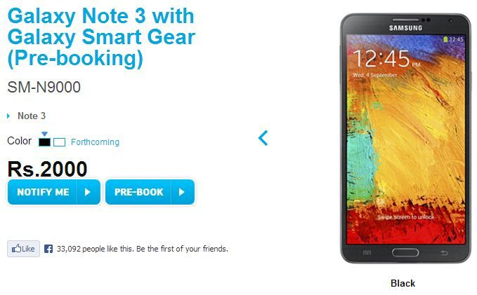 Galaxy Note 3 and Gear pre-order