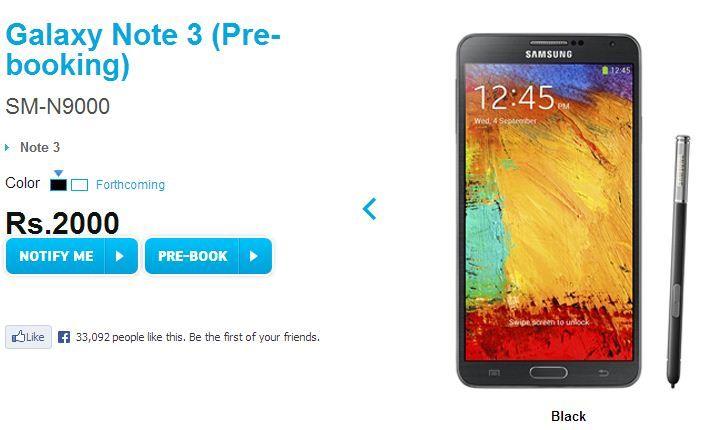 Galaxy Note 3 pre-order