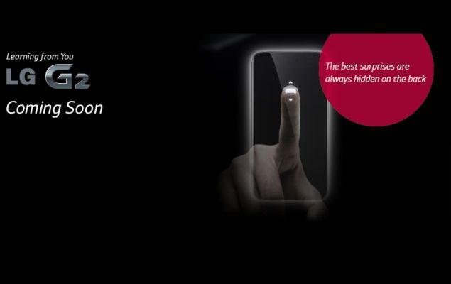 LG G2 India teaser