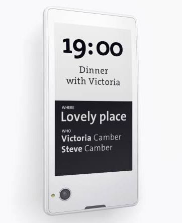 Yota Phone back display