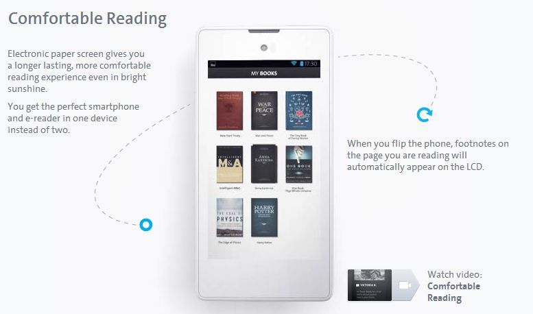 Yota Phone features