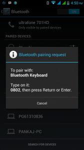 Bluetooth connectivity through smartphone