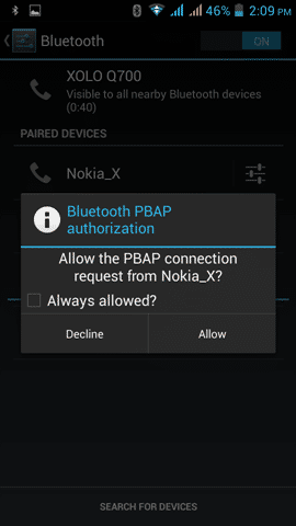 Contacts Transfer on the Nokia X (10)