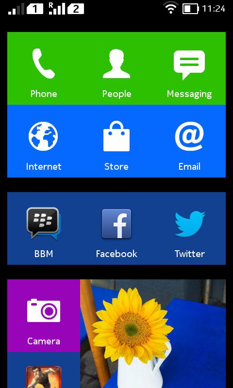 Nokia-X-Home screen