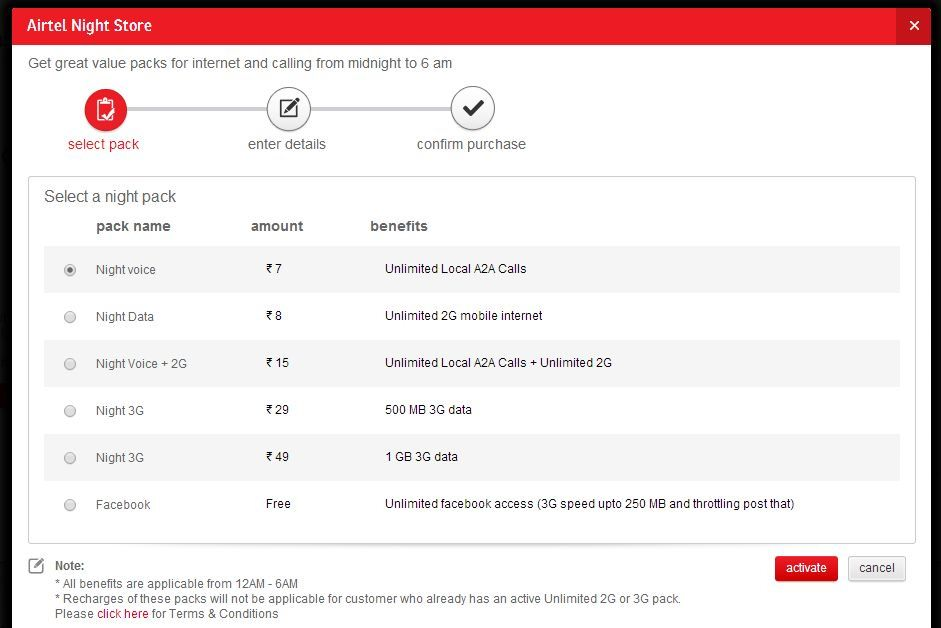 Airtel offers 1GB 3G data at night for just Rs 49 a month