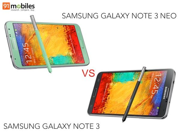 Note 3 vs Note 3 Neo