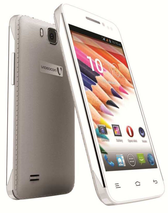 new style eb09c 25d00 Videocon A29 Android smartphone with faux-leather back panel ...