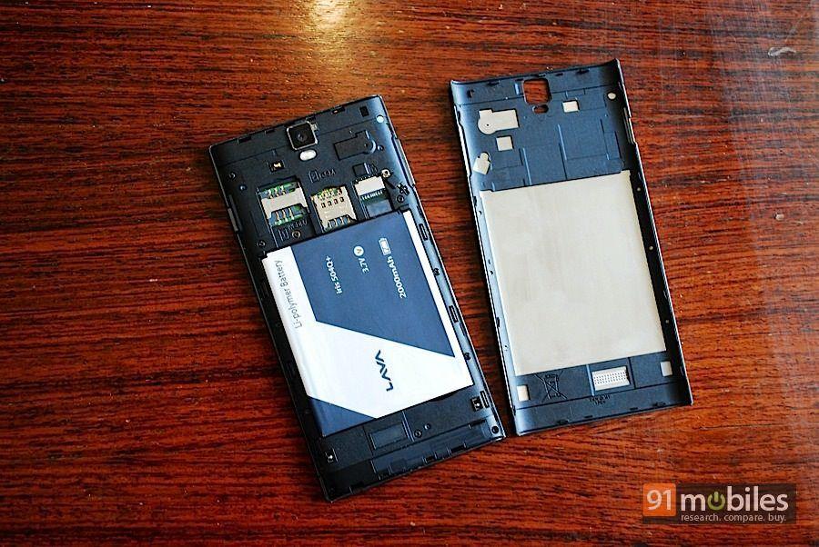 Lava Iris 504Q+ back panel
