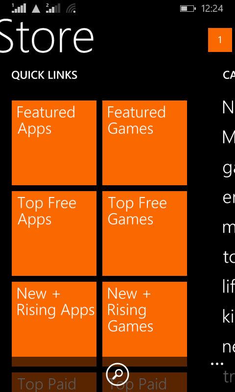 Lumia 630_WP store