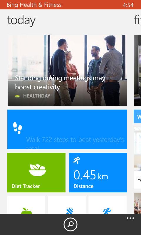 Lumia 630_bing health and fitness