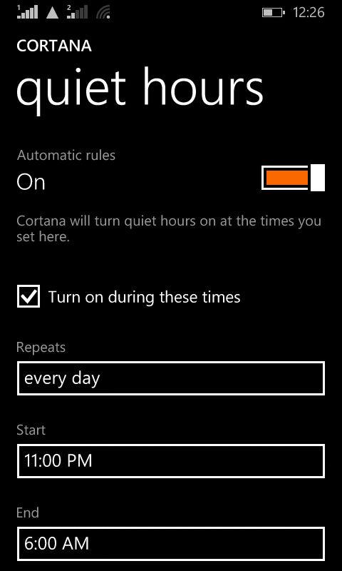 Lumia 630_quiet hours