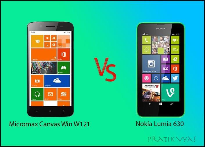 Micromax Canvas Win W121 vs Nokia Lumia 630 Dual