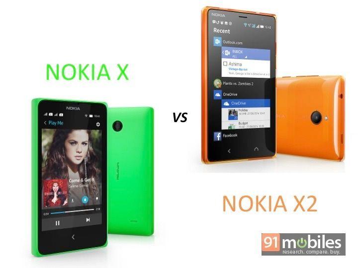 Nokia X vs X2