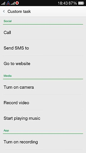 Oppo R1 custom gestures and actions