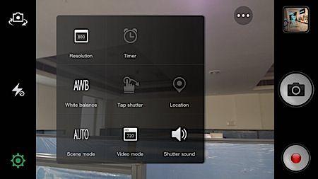 Oppo R1 camera settings