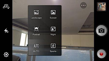 Oppo R1 camera options