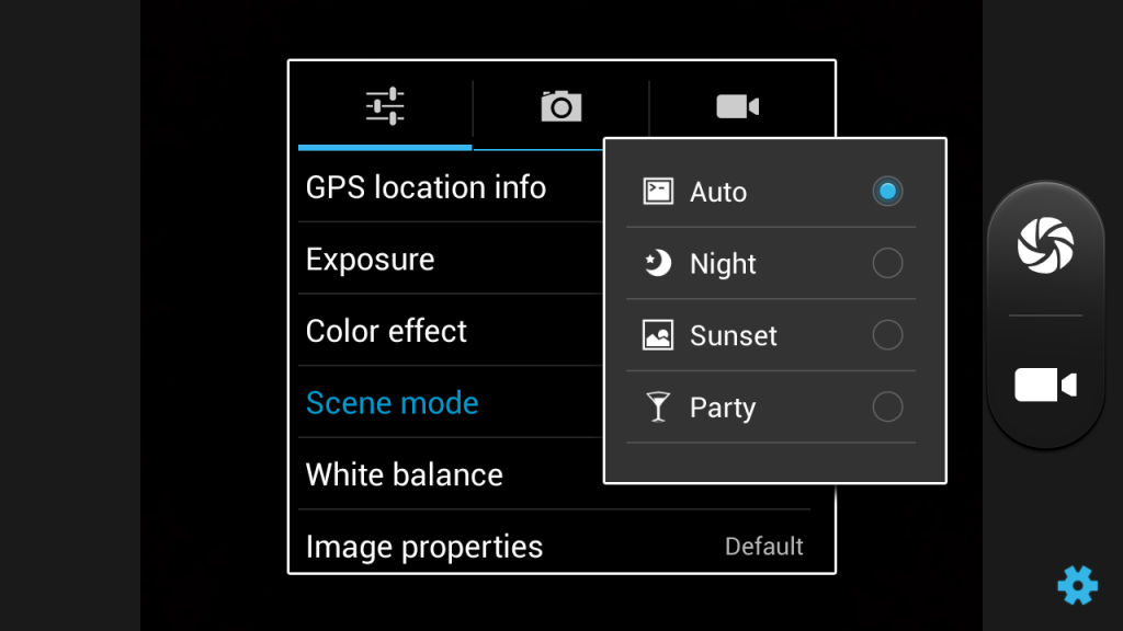 XOLO Q1010i camera interface