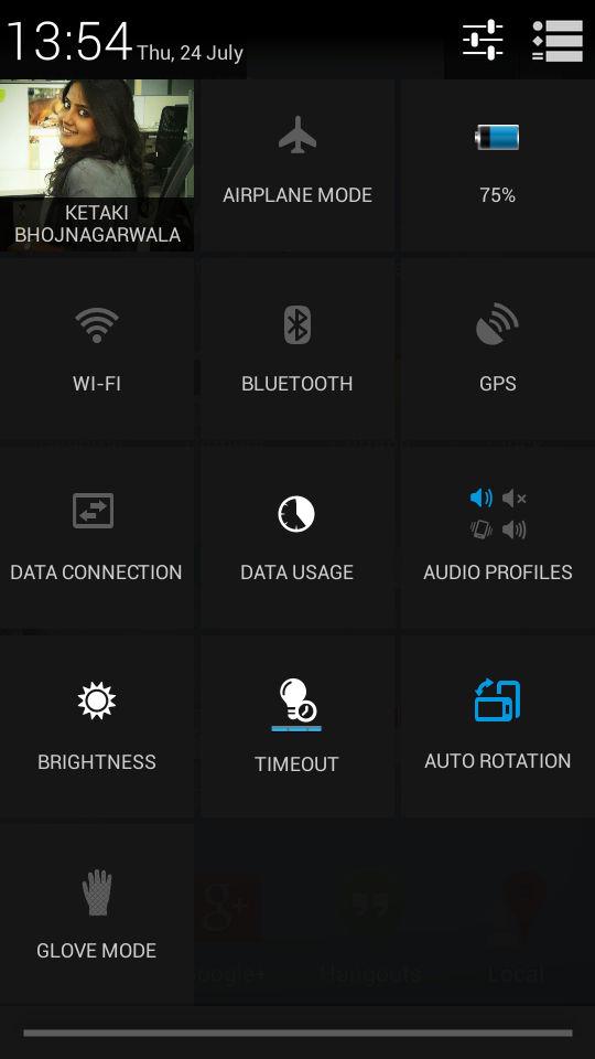 Philips W6610_notification panel