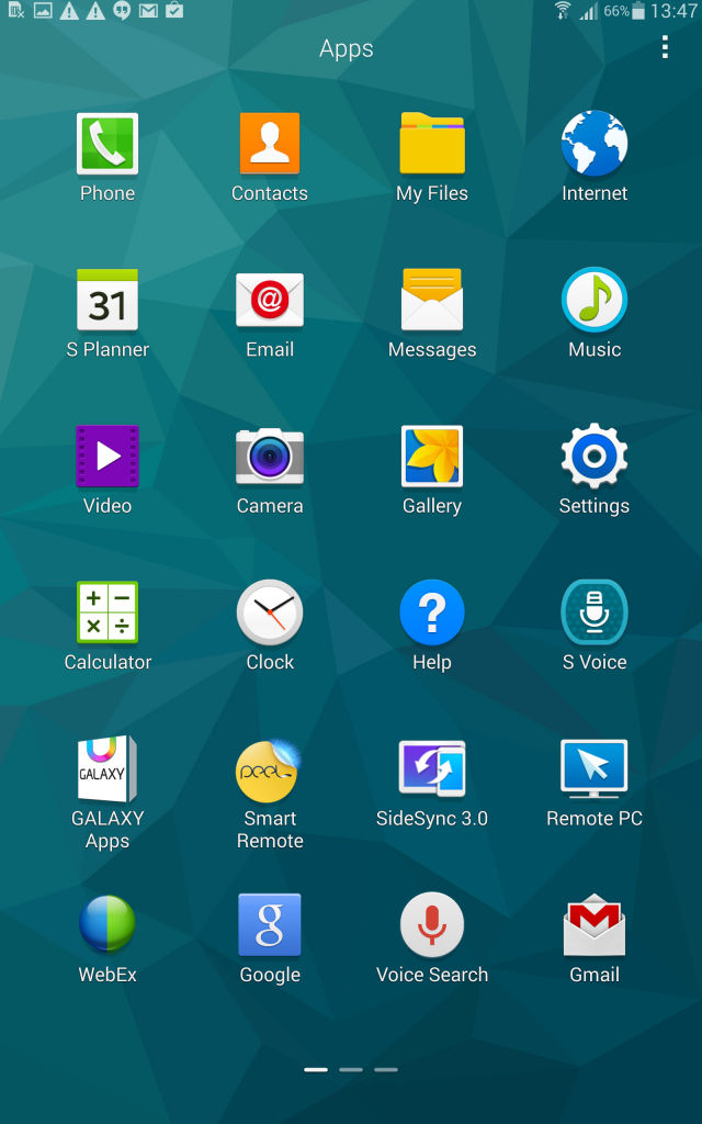 Samsung Tab S_apps