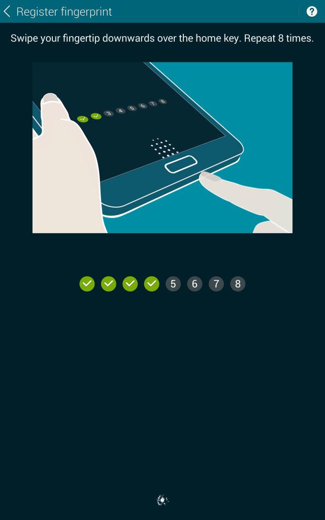 Samsung Tab S_fingerprint sensor