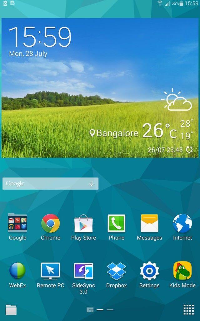 Samsung Tab S_homescreen
