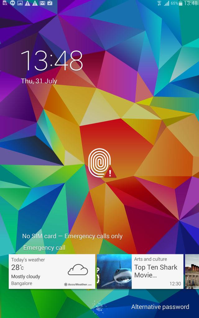 Samsung Tab S_lockscreen