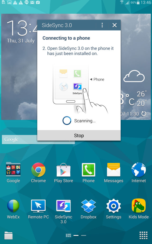 Samsung Tab S_sidesync