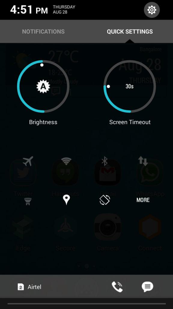 Xolo Hive_quick settings