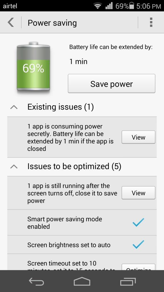 Huawei Honor 6_Power Saving