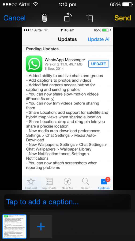 how to add picture on whatsapp iphone