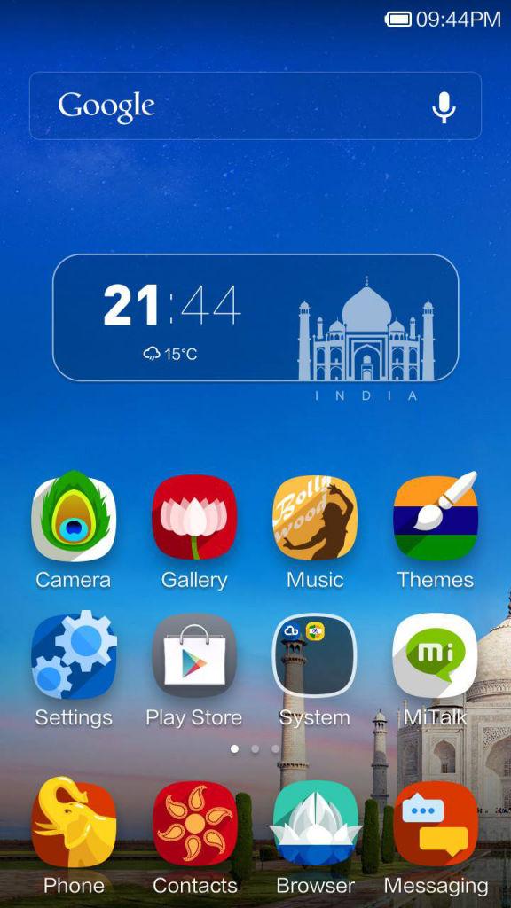 Xiaomi Redmi 1s_India theme