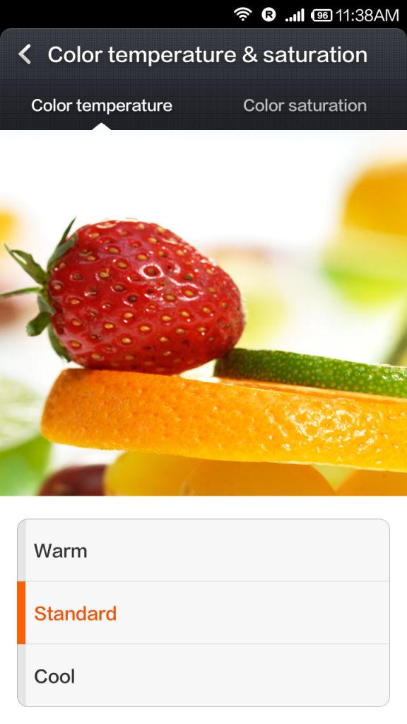 Xiaomi Redmi 1s_colour temperature