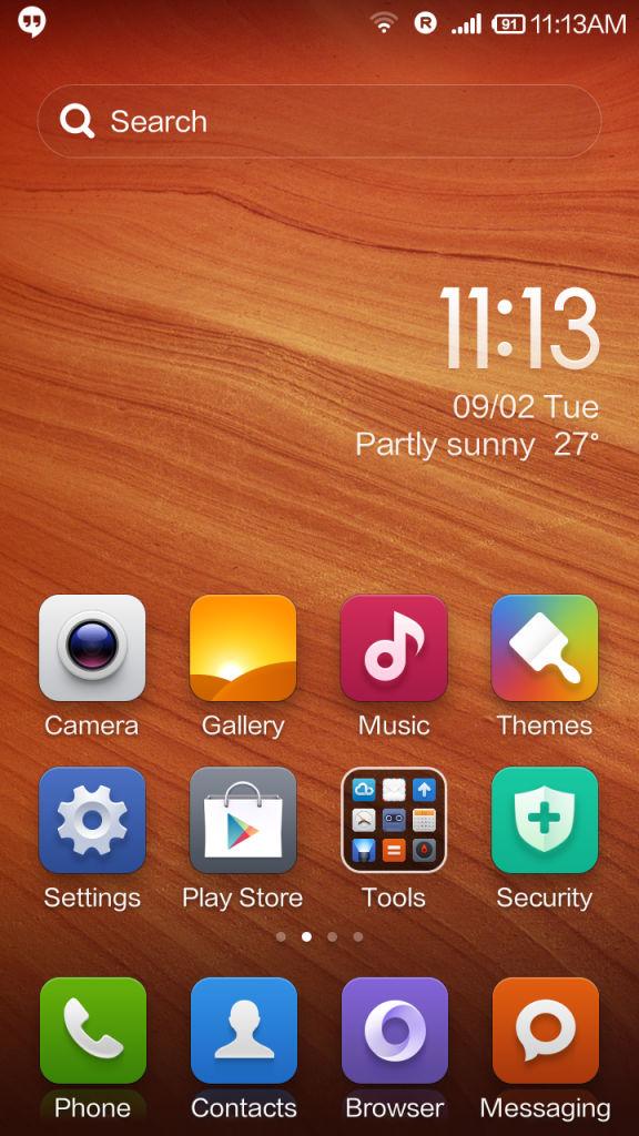 Xiaomi Redmi 1s_homescreen