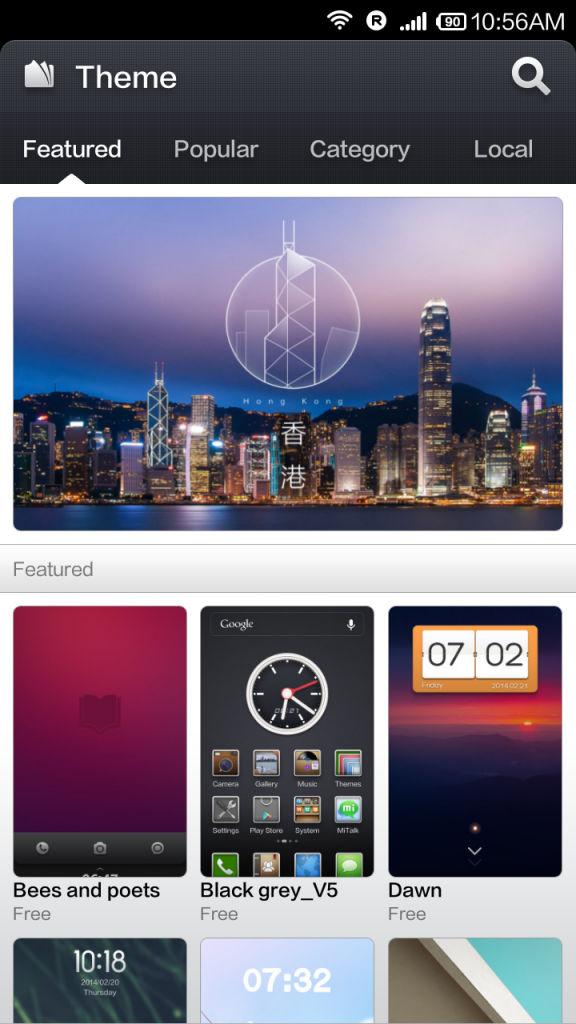 Xiaomi Redmi 1s_themes