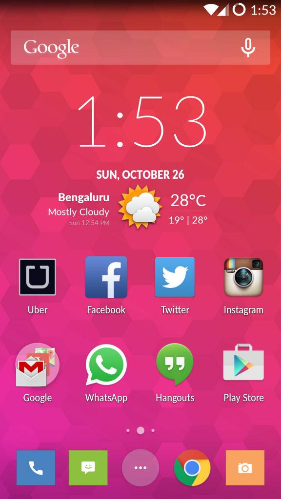 OnePlus One_homescreen