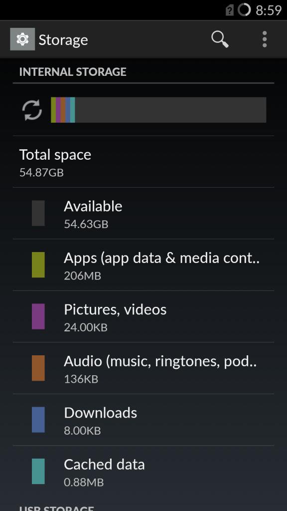 OnePlus One_storage