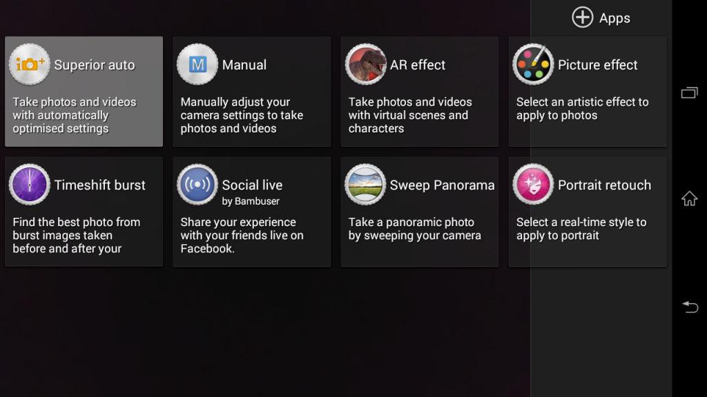 Sony Xperia C3_camera modes