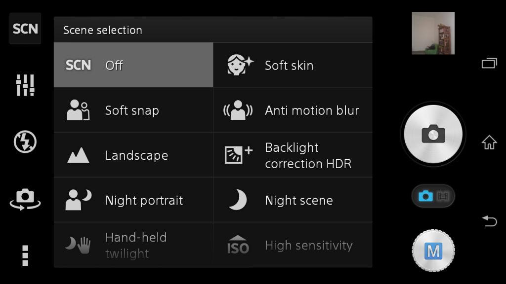 Sony Xperia Z3 Comapct_camera modes
